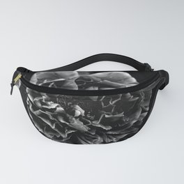 Black And White Flower Fanny Pack