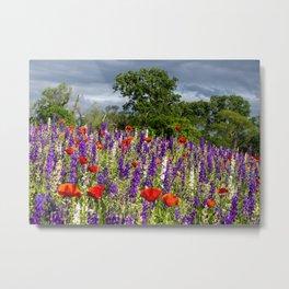 Dark Skies & Wildflowers Metal Print