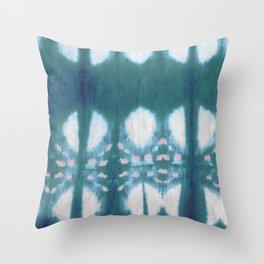 Tie Dye Shibori Throw Pillow