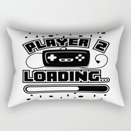 Player 2 Loading Baby Announcement Pregnancy Gift Rectangular Pillow