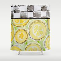 kitchen Shower Curtains featuring Southern Kitchen by HollyJonesEcu