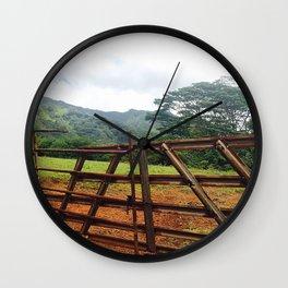 Rusty Kauai Fence Wall Clock