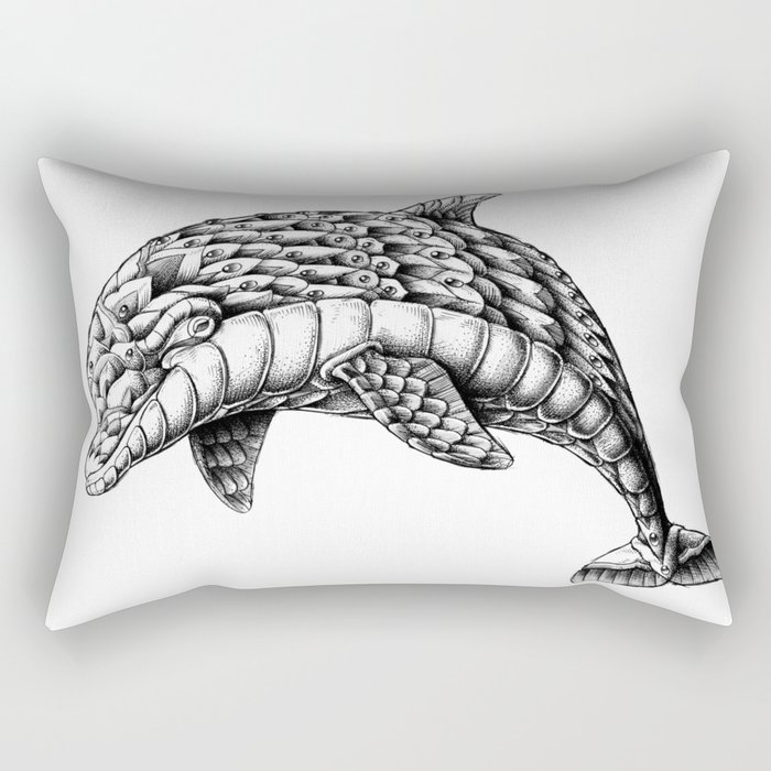 Ornate Dolphin Rectangular Pillow