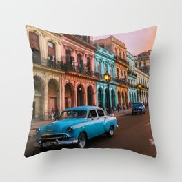 Colorful Havana Throw Pillow