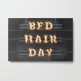 Bed Hair Day - Bulb Metal Print