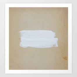 Old white paint Art Print