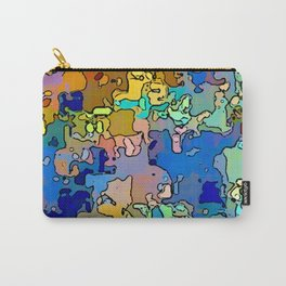 Abstract segmented 4 Carry-All Pouch