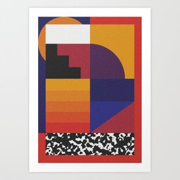 Geometric Sunset Art Print