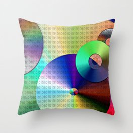 Abstract Binary Disks Throw Pillow