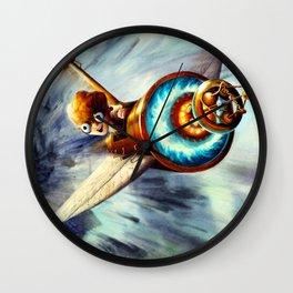 Flying a Plane Wall Clock