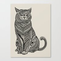 british Canvas Prints featuring Polynesian British Shorthair cat by Huebucket