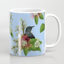 Tui in Pohutukawa Flowers Coffee Mug
