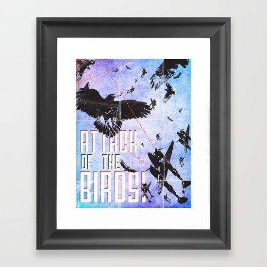 Attack of The Birds! Framed Art Print