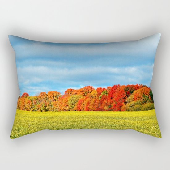 The Field and the Forest in October Rectangular Pillow