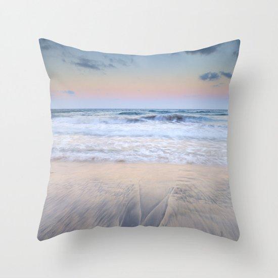 Pink sunset at the sea Throw Pillow