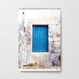 Cretan Door No2 Metal Print