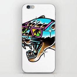 Chrome panther iPhone Skin