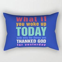 What If - Blue Rectangular Pillow