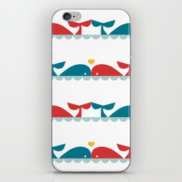 Whale Pattern iPhone Skin