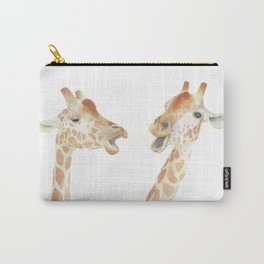 Giraffes Watercolor Carry-All Pouch