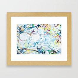 Fibroblasts - Watercolor Painting Framed Art Print