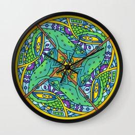 Chameleon Mandala Wall Clock