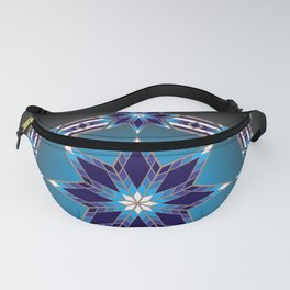 Morning Star Circle (Blue) Fanny Pack
