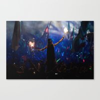 dbz Canvas Prints featuring DBZ workout I by Raul Hinojosa