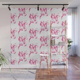 Follow the Herd Pattern - Pink #646 Wall Mural