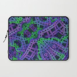Green and purple film ribbons Laptop Sleeve