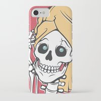 skeleton iPhone & iPod Cases featuring Skeleton by NathanJoyce