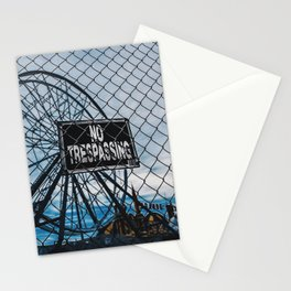No Trespassing Stationery Cards