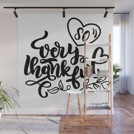 So Very Thankful Thanksgiving Wall Mural