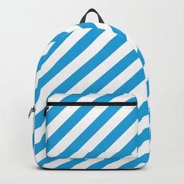 Oktoberfest Bavarian Blue and White Candy Cane Stripes Backpack