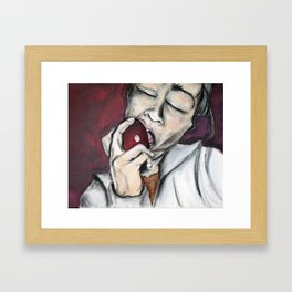 A Big Bite Framed Art Print