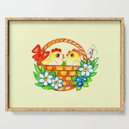 CHICKS-IN-A-BASKET Serving Tray