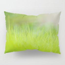 Fresh green grass close up. Pillow Sham