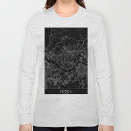 Seoul Black Map Long Sleeve T-shirt
