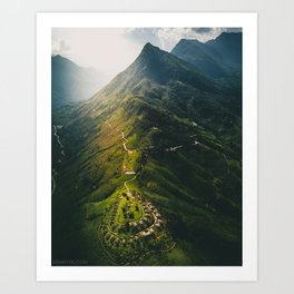 Northern Vietnam, Sapa Art Print