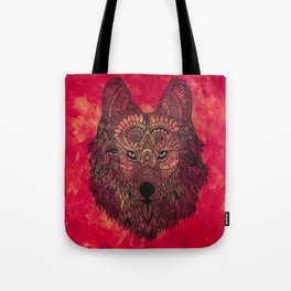 The Chosen Lone Henna Wolf Tote Bag