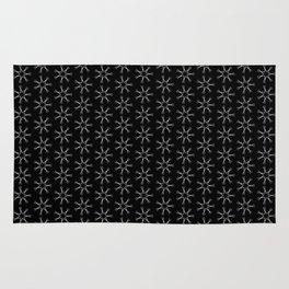 Scissors Star (black) Rug