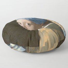 Girl with a Pearl Earring (1665), Old Masters Collection Floor Pillow