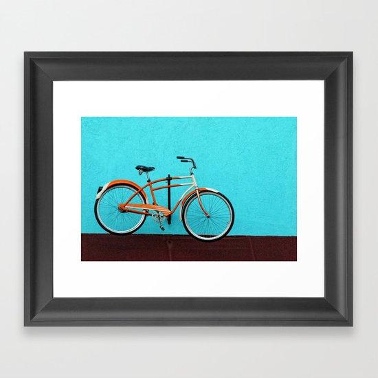 Oak Cliff Bicycle Framed Art Print