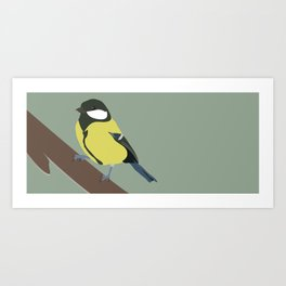 Great Tit (wide version Art Print