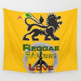 Reggae, Music & Love Wall Tapestry