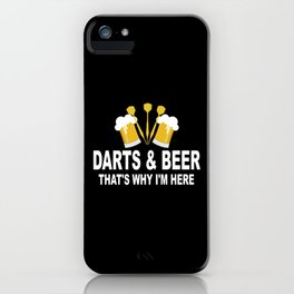Darts And Beer Lovers Darts Player Dartboard Gift iPhone Case