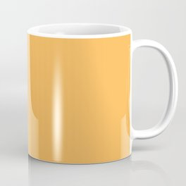 Orange Solid Color Block Spring Summer Coffee Mug