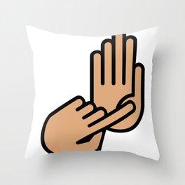 Oakland County Michigan Hand Map Throw Pillow