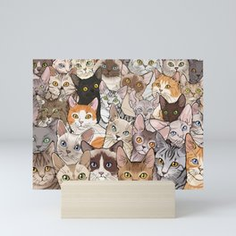 A lot of Cats Mini Art Print
