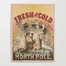 North Pole Fresh and Cold Lager Beer Poster